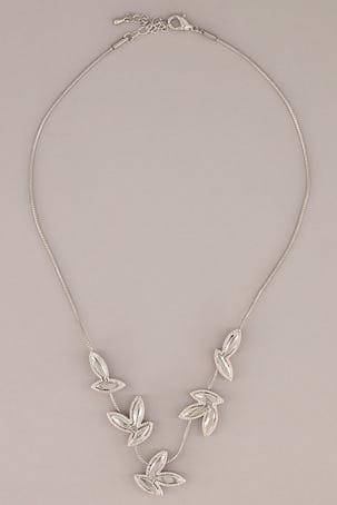 Collar De Hojas Cristal
