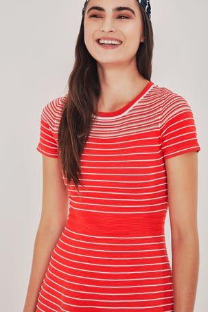 Vestido Rayas Rojo Y Blanco