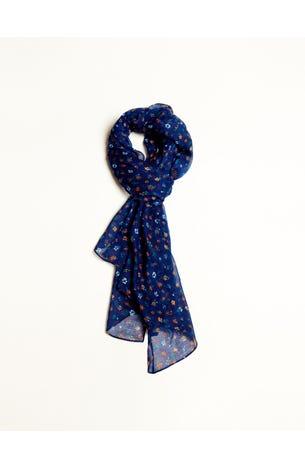 Pashmina Flores Azul