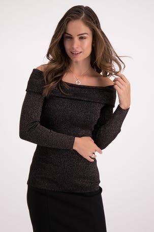 Suéter Escote Bardot