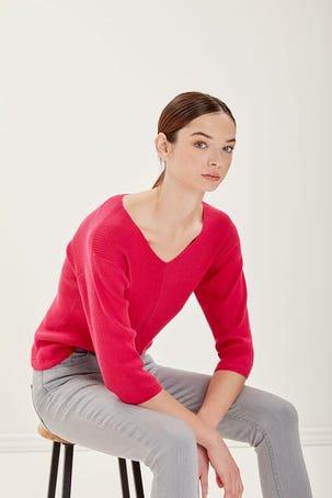 Suéter Escote V