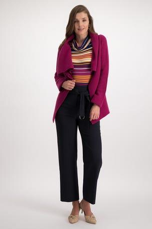 Suéter con Cuello Alto y Botón