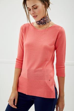 Suéter Coral Manga Al Codo