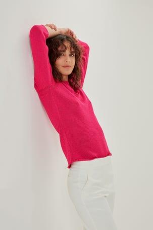 Suéter Rosa Ornamental