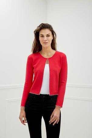 Suéter Rosa Con Textura