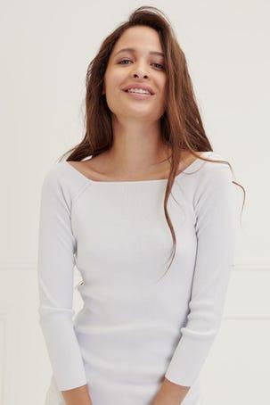 Suéter Escote Cuadrado