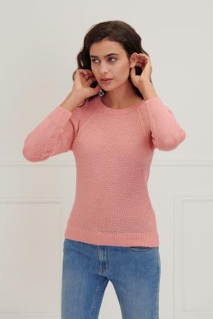 Suéter Calado Rosa