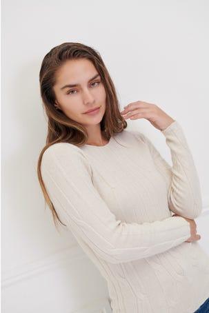 Suéter Tejido Trenzado