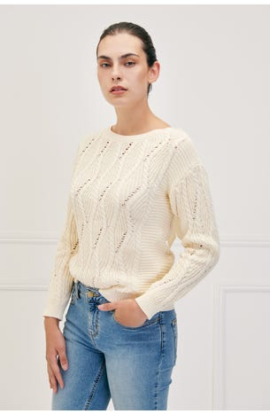 Suéter Trenzado  Amarre Trasero