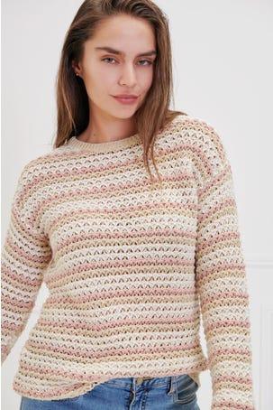 Suéter Calado Franjas