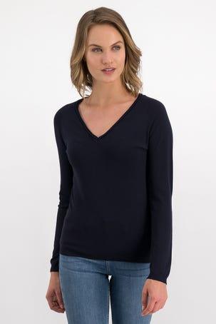 Suéter Azul Marino Escote V