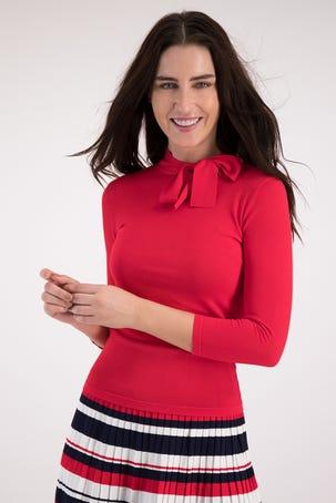 Suéter Rojo Con Lazo