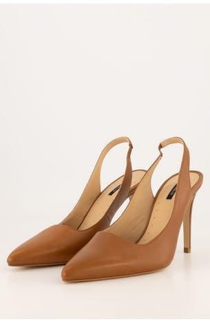 Zapatos Destalonado Camel