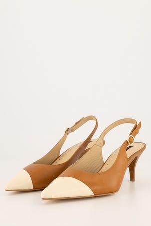 Zapatos Destalonado Bicolor