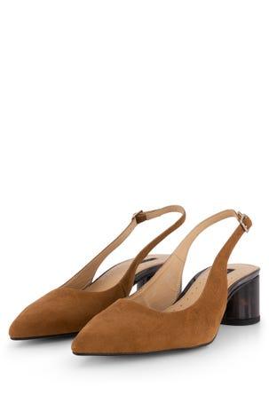 Zapato Destalonado Tacón Redondo Forrado