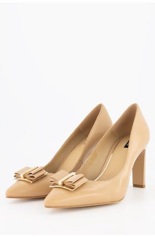 Zapatos Nude De Moño