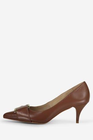 Zapatos Cafes Con Hebilla