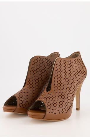Zapatos Peep Toe Cortes Laser