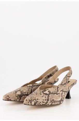 Zapatos Destalonados De Serpiente