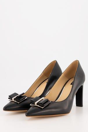 Zapatos Negros Con Moño